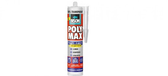 Bison Polymax High tack Express transparant 300ml